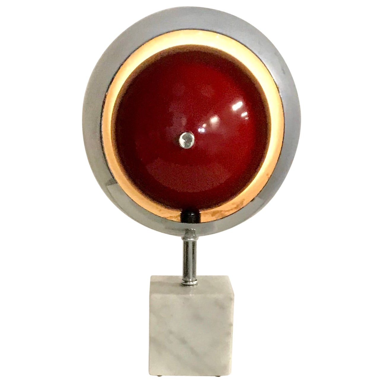 """Space Age, Modernist Chrome and Marble """"Eyeball"""" after Arredoluce"""
