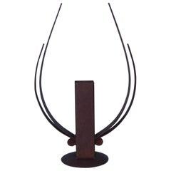 Rust Steel Modern Table Sculpture