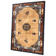 Beautiful Vintage European Chinese Style Rug