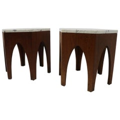 Pair of 6 Sided Probber Style Tables