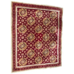 Beautiful Vintage Aubusson Design Hand Tufted Rug