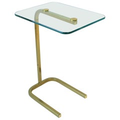 Brass and Glass Side Table