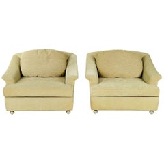 Pair of Pillow Back Lounge Chairs by Edward Wormley