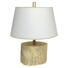 Silver Leaf and Giltwood Table Lamp