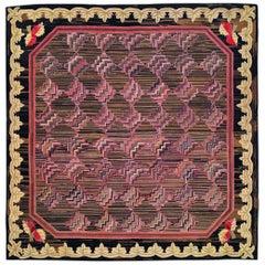Vintage European Hooked Rug