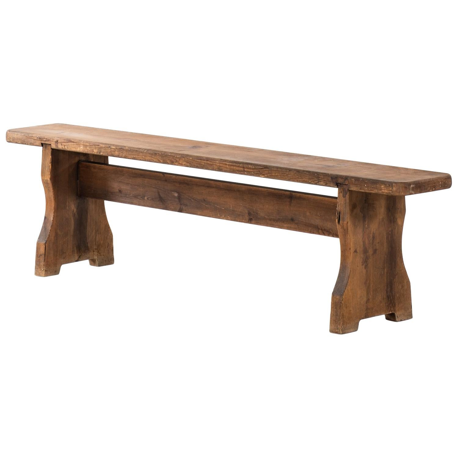 Bench in Acid Treated Pine Produced in Sweden