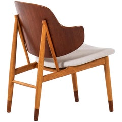 Ib Kofod-Larsen Shell Easy Chair Produced by Christensen & Larsen in Denmark