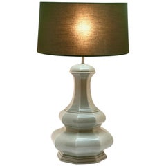 Celadon Table Lamp, Palest Jade with Fine Craquelure Glaze