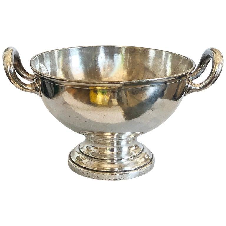 Art Deco German Silver Plate Champagne Bucket Rafraichissoir For Sale