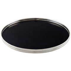 Fisher Silversmiths (Co.) Serving Tray in Sterling Silver and Ebonite