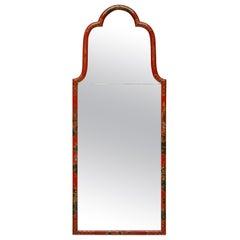 Fine Queen Anne Style Japanned Mirror