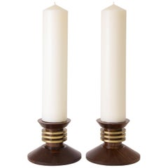 Large Pair of Art Deco Candlesticks by Louis Prodhon