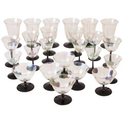 Suite of Art Deco Cocktail Glasses