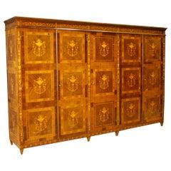 20th Century Inlaid Wood Italian Louis XVI Style Wardrobe, 1960