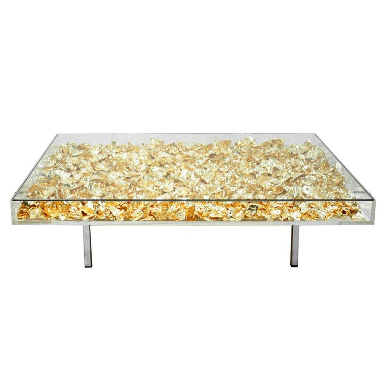 Yves Klein Gold Quot Monogold Quot French Coffee Table For Sale At