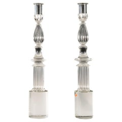 Pair of Seguso Candlesticks by John Loring of Tiffany & Co