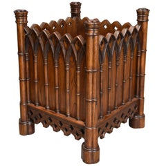 Highly Decorative Elm Gothic Style Planter