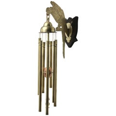Arts & Crafts Chime Tubular Bells, Brass Wall Mounted Dinner Gong 'Doorbell'