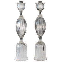 Pair of Seguso Candlesticks 3 by John Loring of Tiffany & Co