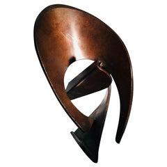 1960s Robert Fachard Abstract Bronze Sculpture Unique Piece France