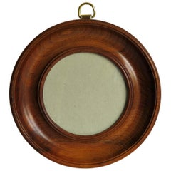 19th Century Small Picture or Photo Frame Hand Turned Mahogany Wall Hanging