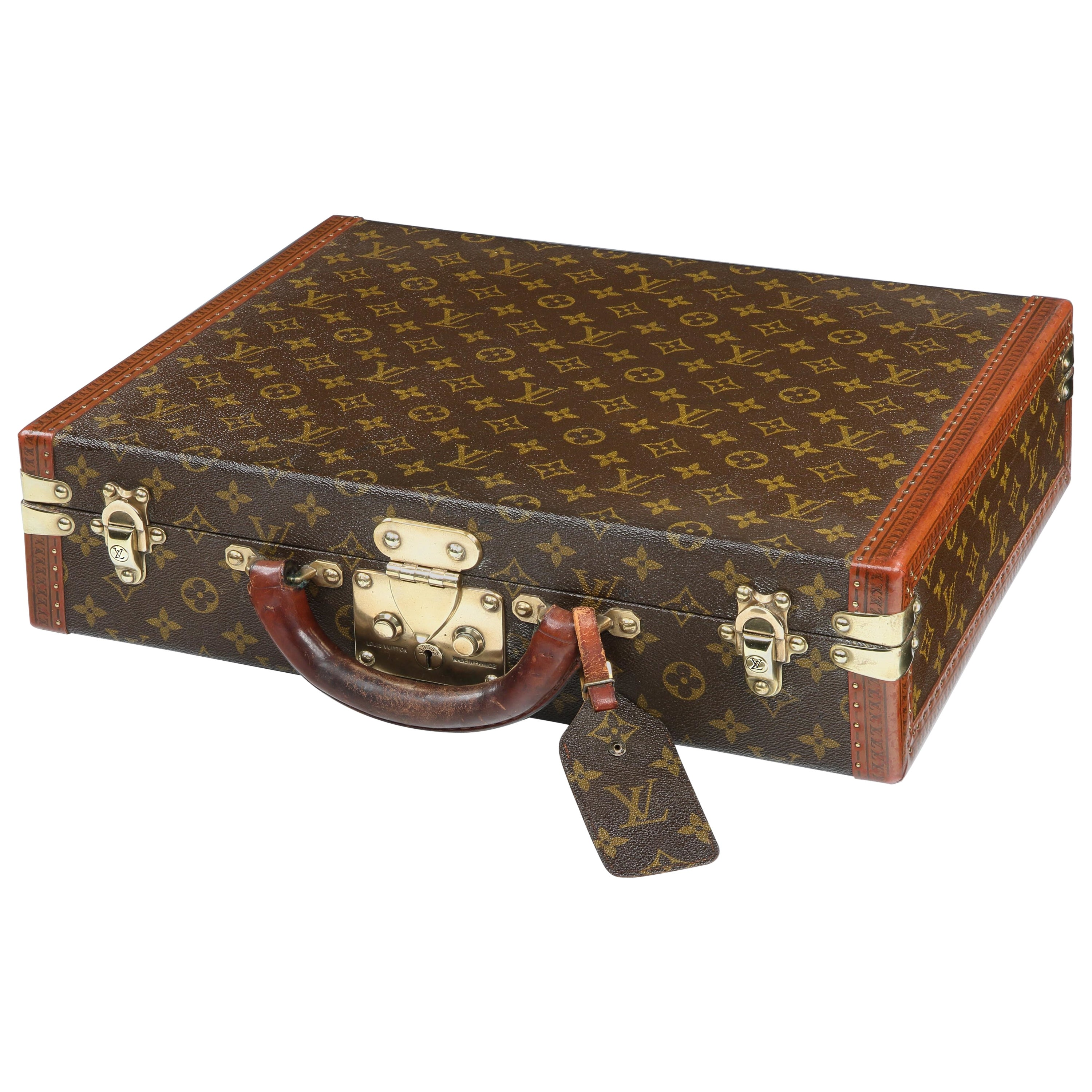 Louis Vuitton Président Briefcase Humidor In Monogramme Canvas, 1960s At  1stdibs