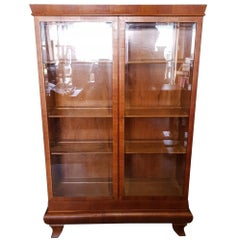 1930s Art Deco Mahogany Veneered Vitrine