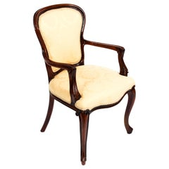Antique French Louis Revival Armchair Cabriole Leg 19th Century