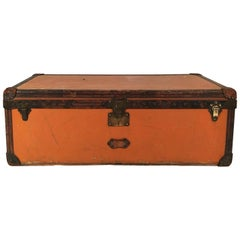 Large Early 20th Louis Vuitton Orange Vuittonite Malle Cabin Trunk, Paris 1910