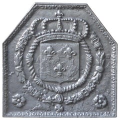 18th Century French Louis XIV Fireback with the Coat of Arms of France