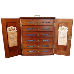 "Victorian Collectors Cabinet, ""Portable Museum"" with Contents"