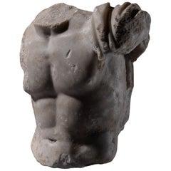Ancient Roman Marble Torso of Zeus, 50 AD
