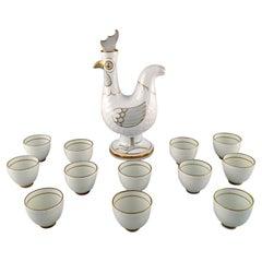 Bing & Grondahl, Denmark, Jug of Porcelain with 12 Mugs