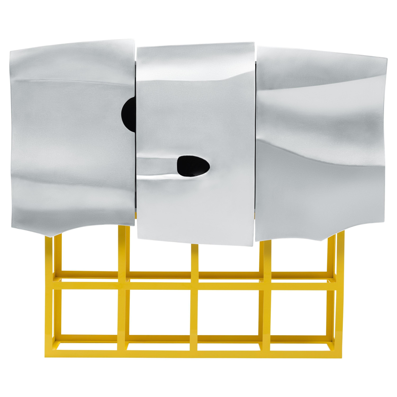 Contemporary Scocca Cabinet in Aluminium by Altreforme