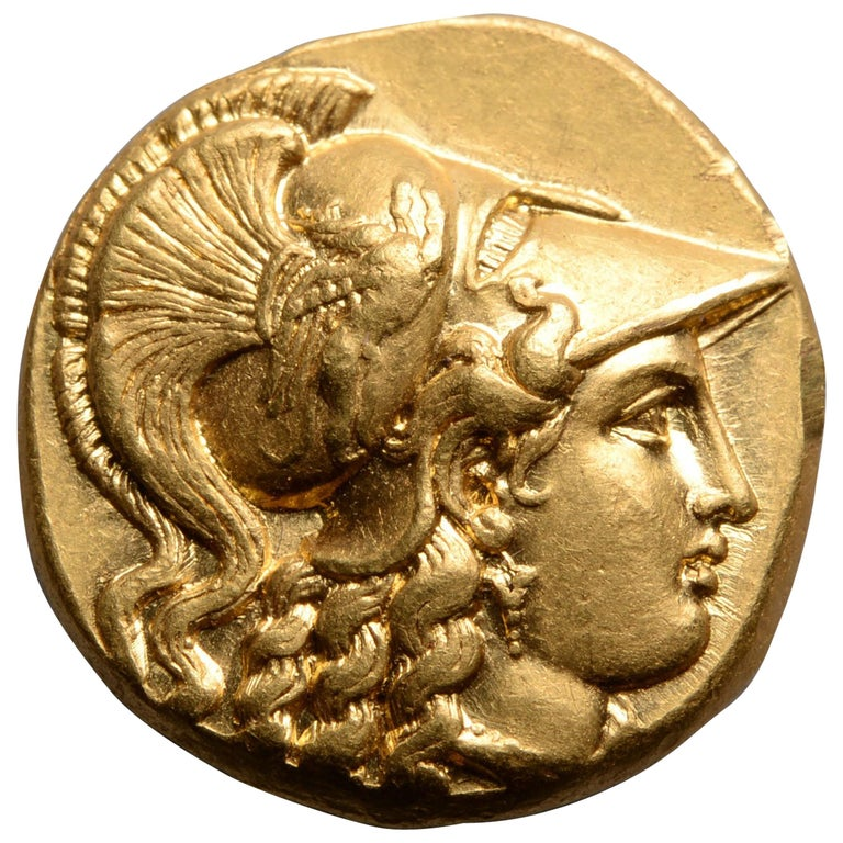 Ancient Greek Gold Stater Coin of King Philip III of Macedon, 323 BC For Sale