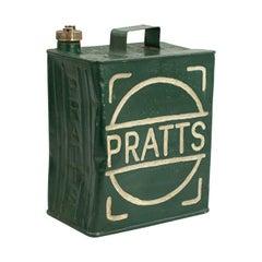 Vintage Pratts Metal Petrol Can