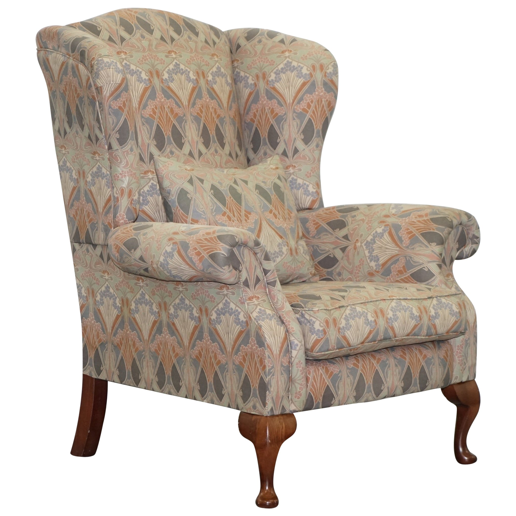 Rare Original Vintage Liberty London Ianthe Upholstered Wingback