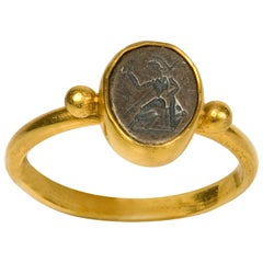 Ring, after Antique Roman Models, Gold 22-Karat, 20th Century