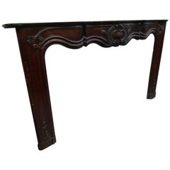 18th Century Spanish Wooden Carved Fireplace Mantel