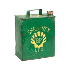 Vintage Shell-Mex Fuel Can, Tin Petrol Can
