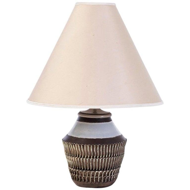 Jean Besnard Ceramic Table Lamp, 1930s For Sale