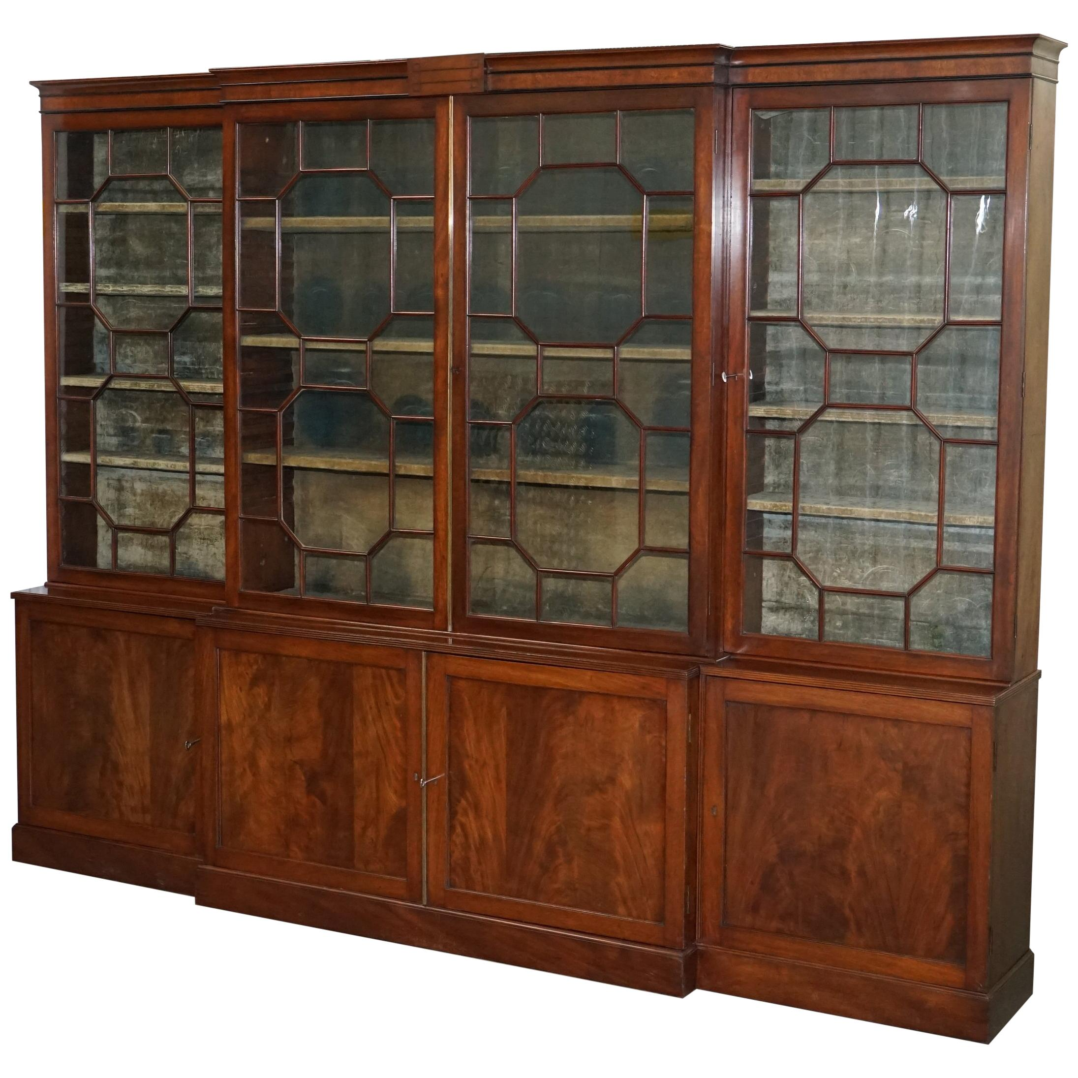 Antique Furniture Cabinets Stunning Mahogany Chippendale Style Astral Glazed Display Cabinet