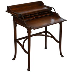 Theodore Alexander Campaign Laptop Desk with Sliding Leather Writing Surface