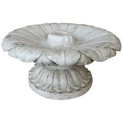 19th Century Carved Carrara Marble Garden Fountain