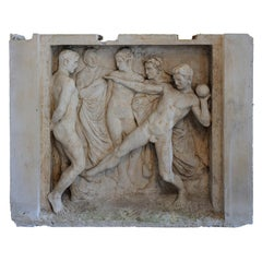 Massive French Neoclassical Style Plaster Cast Frieze, circa 1920