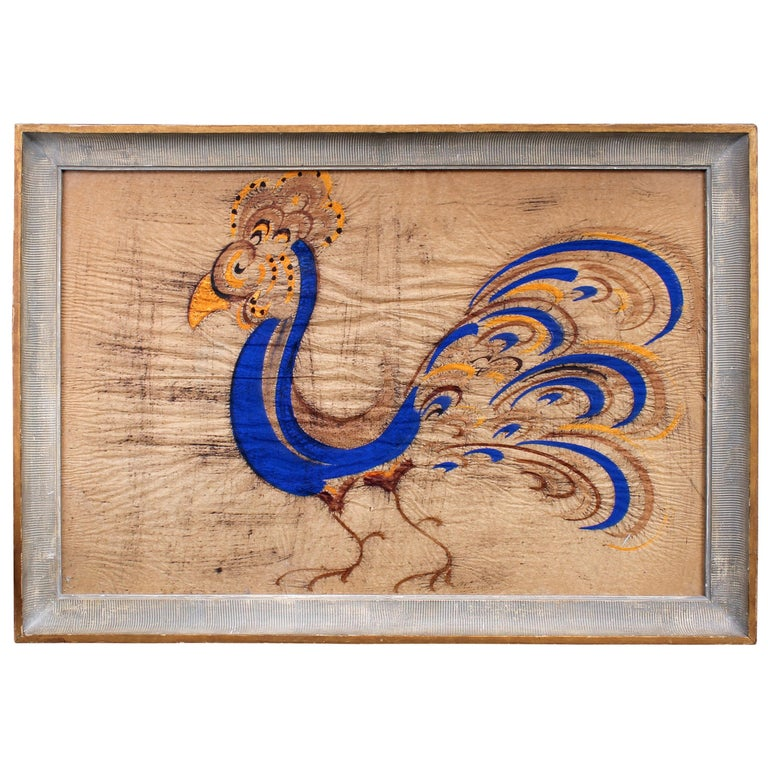 "Jesus ""Chucho"" Reyes Ferrera Gouache on Paper of Exotic Bird For Sale"