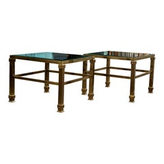 Strong, Masculine Late 20th Century Brass Side Tables
