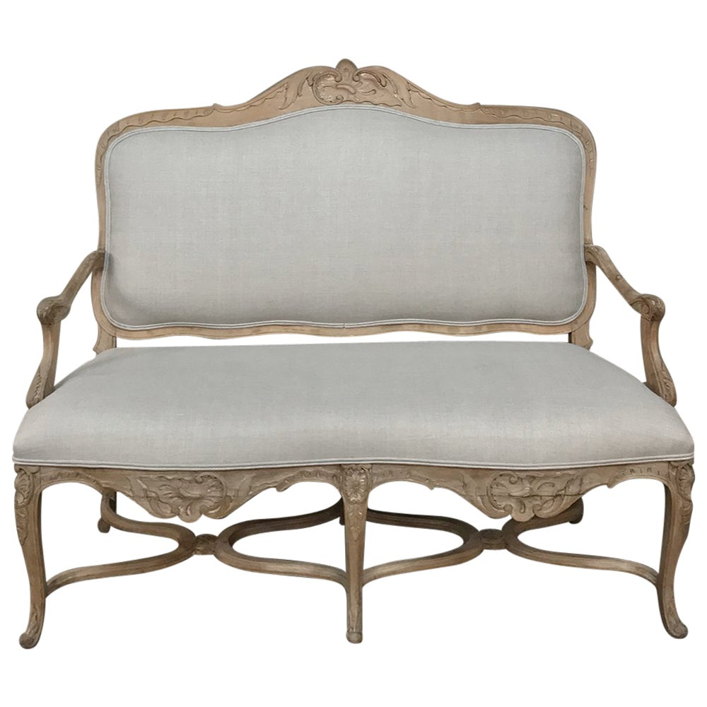19th Century French Louis XV Rococo Fruitwood Sofa