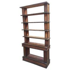 Midcentury Italian Coated Wood Etagere or Bookcase, 1940s