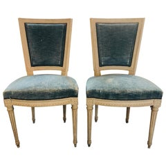 Pair of French Jansen Louis XVI Style Side Chairs